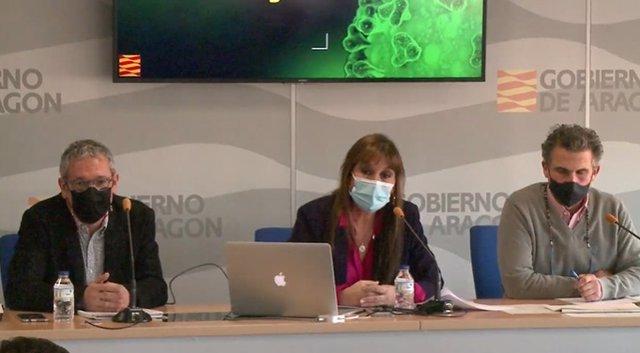 Rueda de prensa sobre la situación epidemiológica en Aragón.