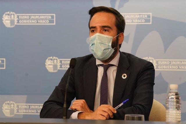 Javier Hurtado, consejero de Turismo, Comercio y Consumo del Gobierno Vasco.