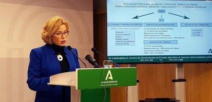 Las oficinas del Servicio Andaluz de Empleo en Málaga ven cuadruplicada su gestión en 2020