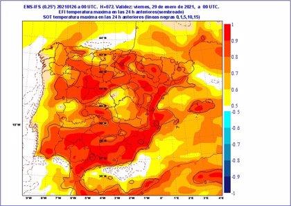 """Cuatro días """"extraordinariamente cálidos"""" en CyL con máximas de hasta 18 y 20º el jueves que batirá records"""