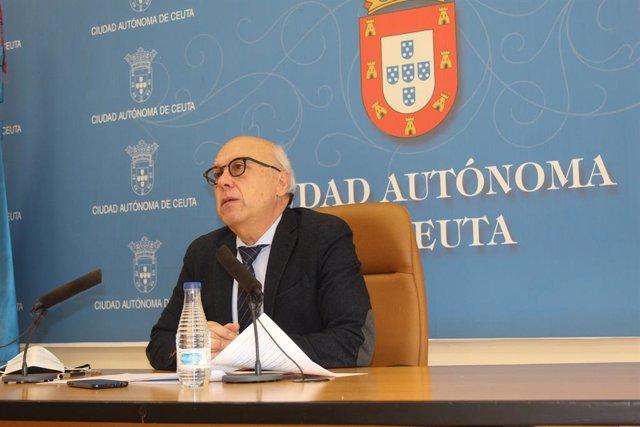 El conseller de Sanitat, Consum i Governació del Govern de Ceuta, Javier Guerrero