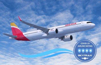 Iberia obtiene 4 estrellas de Skytrax por sus medidas frente a la Covid-19