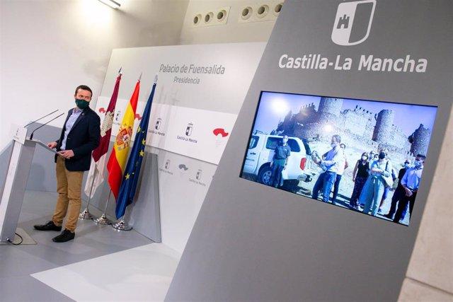 El consejero de Desarrollo Sostenible, José Luis Escudero, en rueda de prensa.