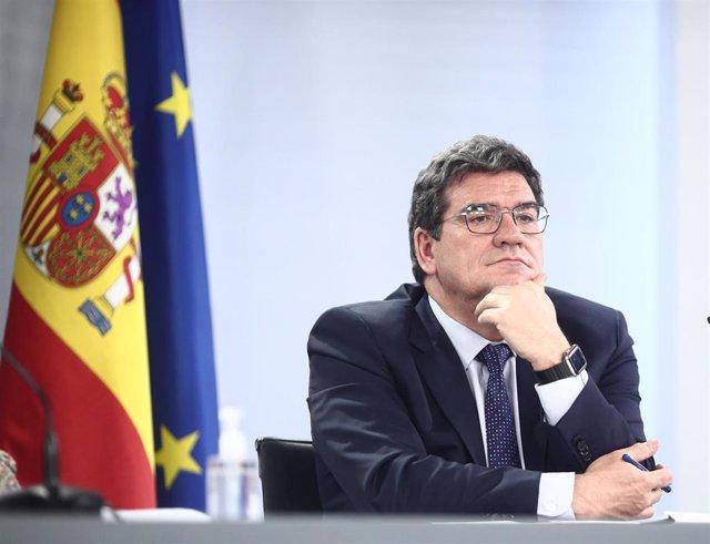 El ministro de Inclusión, Seguridad Social y Migraciones, José Luís Escrivá, en la Moncloa