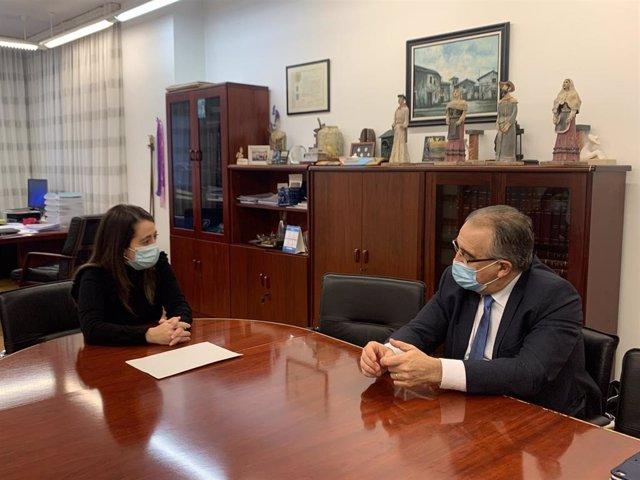 Reunión de los alcaldes de Pamplona y Barañáin