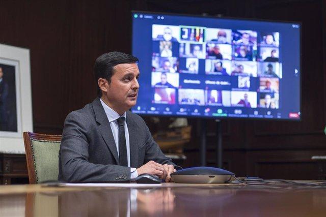 El presidente de la Diputación de Almería se reúne con alcaldes de municipios de menos de 20.000 habitantes