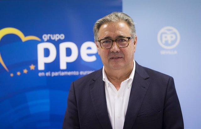 El eurodiputado del PP y exministro del Interior, Juan Ignacio Zoido, en una foto de archivo.