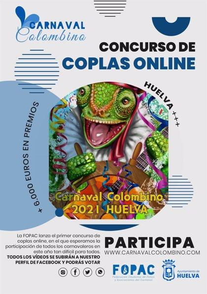 El Carnaval Colombino de Huelva tendrá un concurso de coplas online debido a la pandemia