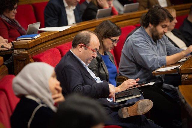 El primer secretari del PSC, Miquel Iceta, al Parlament. Catalunya (Espanya), 17 de desembre del 2019.