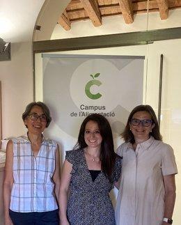 Trinitat Cambras, María Fernanda Zerón y Maria Izquierdo