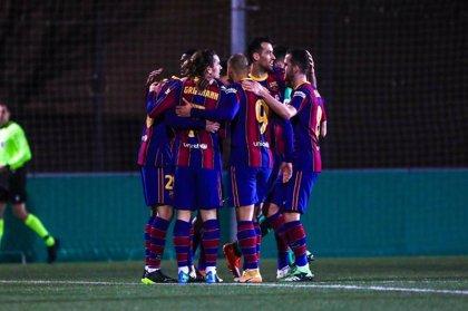El Barça defiende vitola de candidato en Vallecas