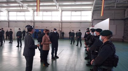 La directora general de la Guardia Civil se reúne con los responsables de la Guardia Civil en La Rioja y de la UAR