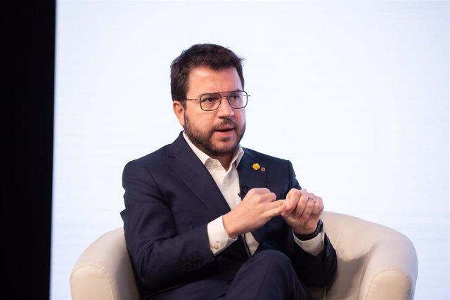 El vicepresidente de la Generalitat, Pere Aragonès (Archivo)