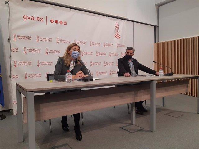 Rueda de prensa de Concha Andrés y José María Ángel