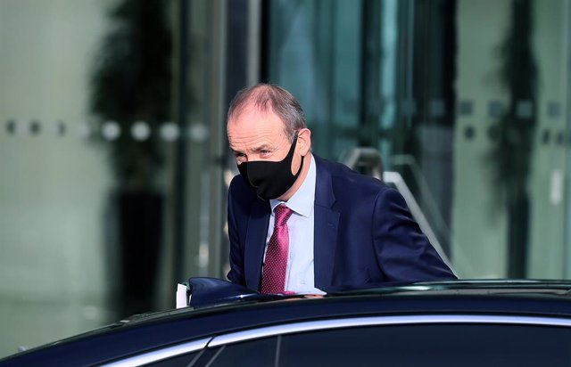 13 January 2021, Ireland, Dublin: Irish Prime Minister Micheal Martin arrives at the Convention Centre Dublin where he is to apologise to survivors of homes for unmarried mothers and their children. The institutions for women who fell pregnant out of wedl