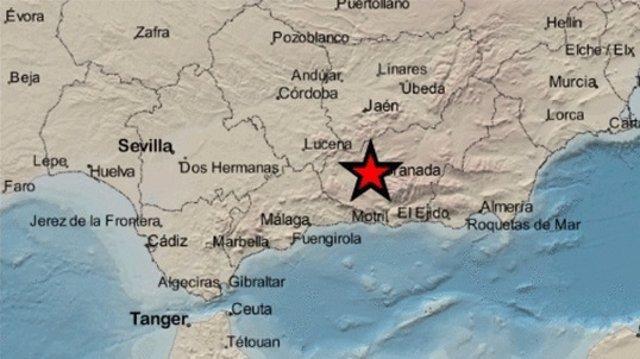 Terremoto con epicentro en la provincia de Granada