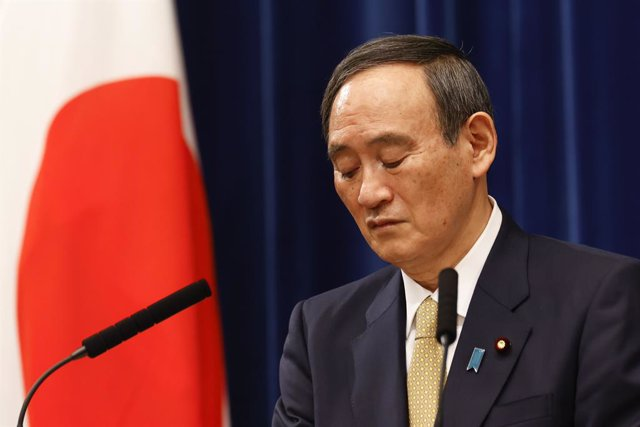 13 January 2021, Japan, Tokyo: Japan's Prime Minister Yoshihide Suga reacts during a press conference at the prime minister's official residence. Photo: Rodrigo Reyes Marin/ZUMA Wire/dpa