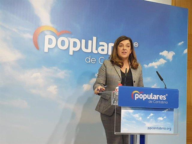 La presidenta del Partido Popular de Cantabria, María José Sáenz de Buruaga