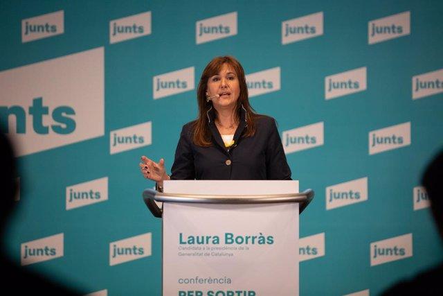 La candidata de JxCat a les eleccions del 14-F, Laura Borràs
