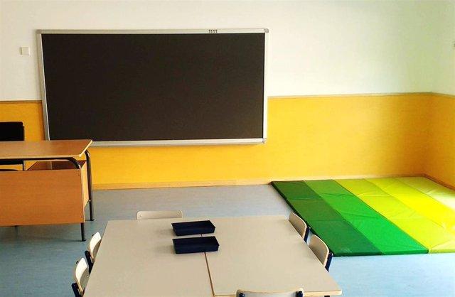 Imagen de un aula en Getafe.