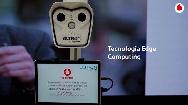 Proyecto 'Robot Covid 5G' Desarrollado Por Vodafone, Intel, Fivecomm Y Altran Para Ayudar A Prevenir El Covid-19