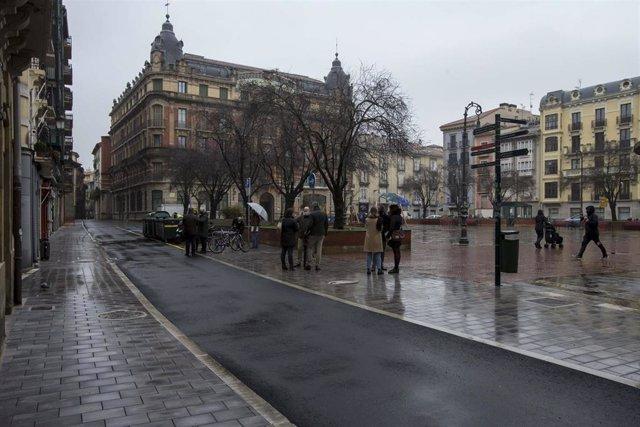 La Comisión de Urbanismo visita las obras de reurbanización de las calles Ansoleaga y San Francisco de Pamplona