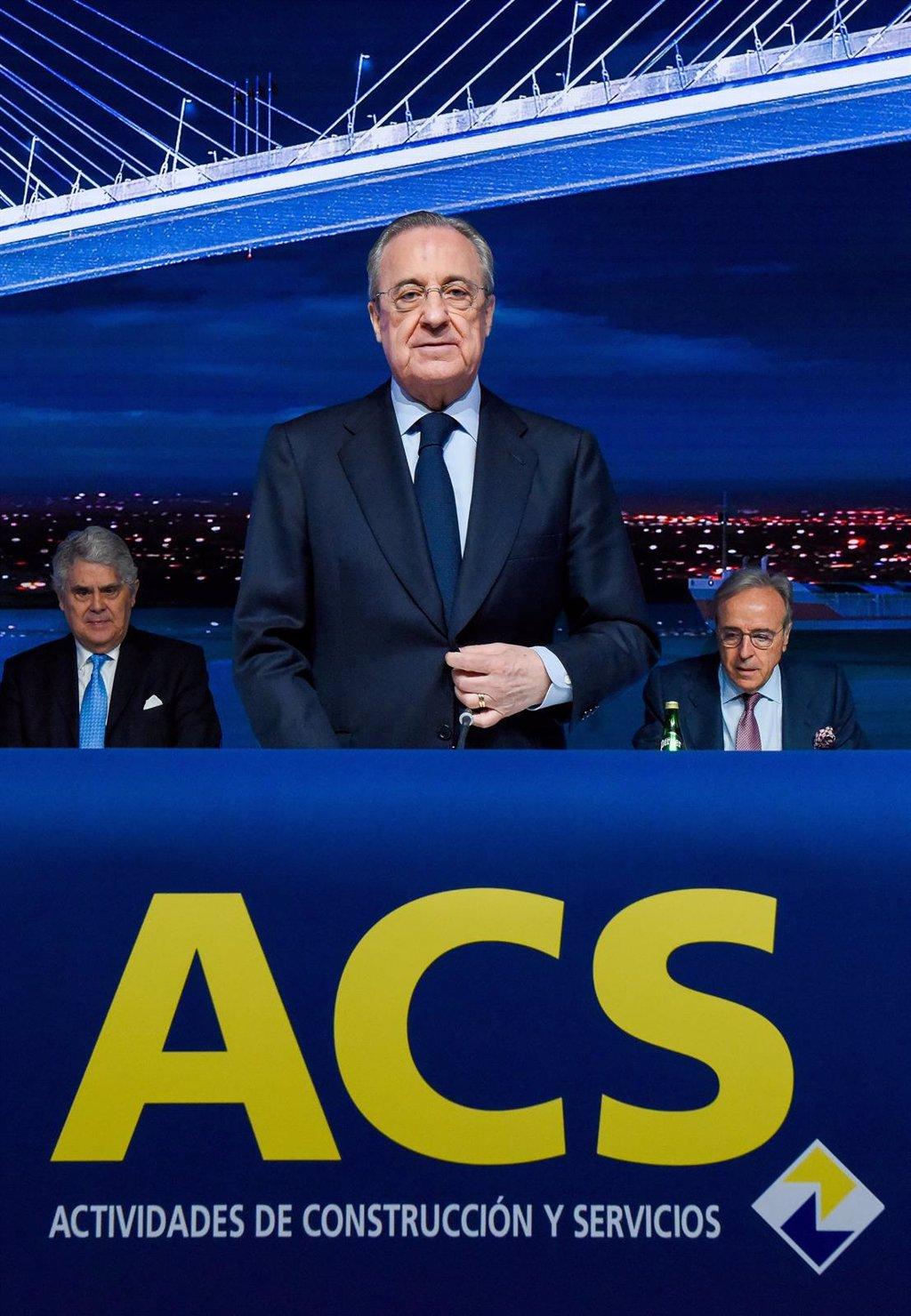 Florentino Pérez agrupa su participación del 12,8% en ACS en una única sociedad