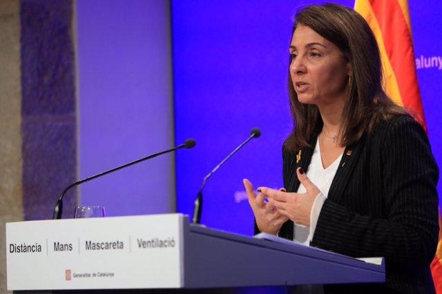 La portaveu del Govern i consellera de Presidència, Meritxell Budó