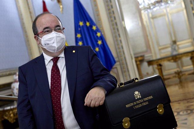 Miquel Iceta ha recibido este miércoles la cartera del Ministerio de Política Territorial