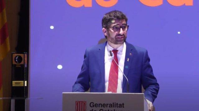 El conseller de Políticas Digitales y Administración Pública de la Generalitat, Jordi Puigneró, este miércoles