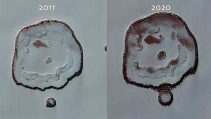 Cambios en la 'sonrisa' de Marte