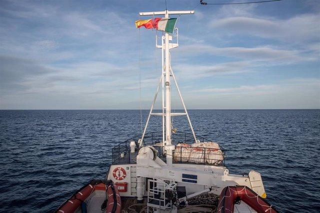 Simulación de rescate a bordo del 'Alan Kurdi' en Palermo