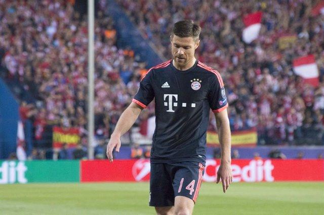 El centrocampista español Xabi Alonso en su etapa como jugador del Bayern de Múnich.
