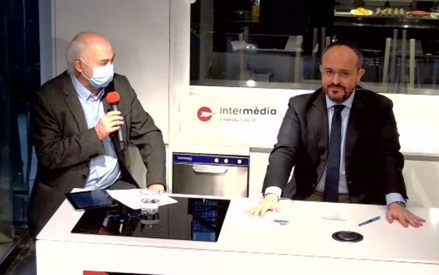 El candidato del PP a la Presidencia de la Generalitat, Alejandro Fernández
