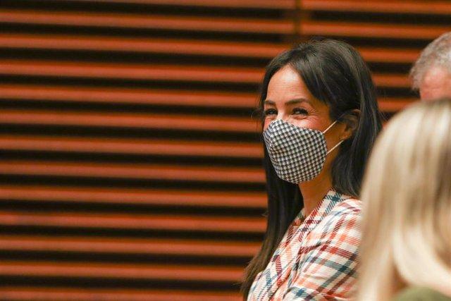 La vicealcaldesa de Madrid, Begoña Villacís, participa en la presentación de la plataforma Madrid Open City, en el Palacio de Cibeles
