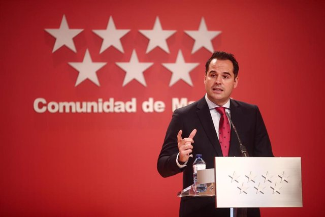 El vicepresidente de la Comunidad de Madrid, Ignacio Aguado, interviene en la rueda de prensa convocada posterior al Consejo de Gobierno de la Comunidad de Madrid celebrada en la Real Casa de Correos, Madrid, (España), a 27 de enero de 2021. Durante la ru