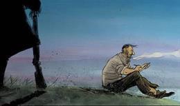 Imatge de la pel·lícula 'Josep', del dibuixant Aurel.