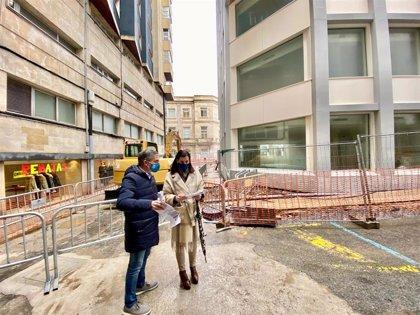 Comienzan las obras de semipeatonalización de las calles La Paz y sur de  Francisco de Quevedo