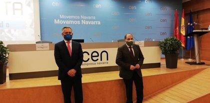 """Sucunza (CEN) prevé que Navarra crezca entre el 5% y 6% si el proceso de vacunación """"se cumple"""""""