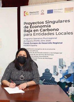 La delegada de Asistencia Económica con los Municipios y Mancomunidades de la Diputación de Córdoba, Dolores Amo.