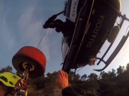 Rescatan a un hombre en la Serra de Tramuntana que no pudo continuar su recorrido al sufrir un percance
