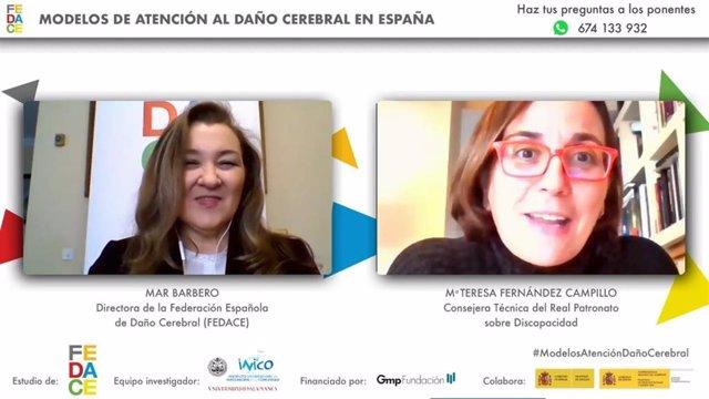 María Teresa Fernández y Mar Barbero.