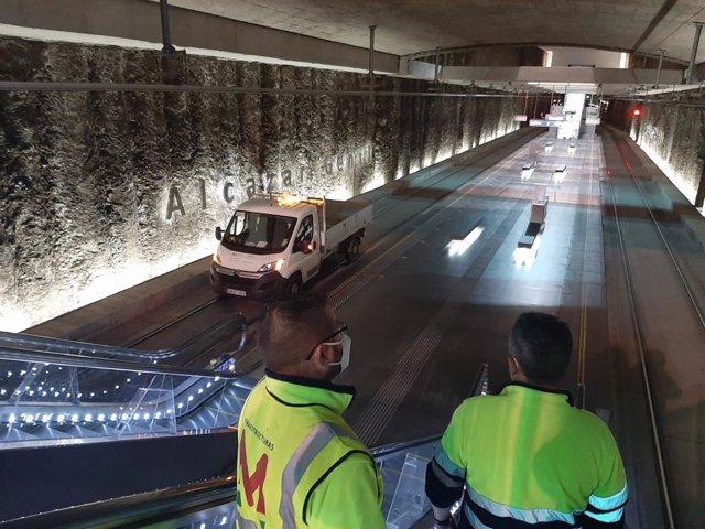 Revisión técnica del metro de Granada tras varios terremotos de un enjambre sísmico