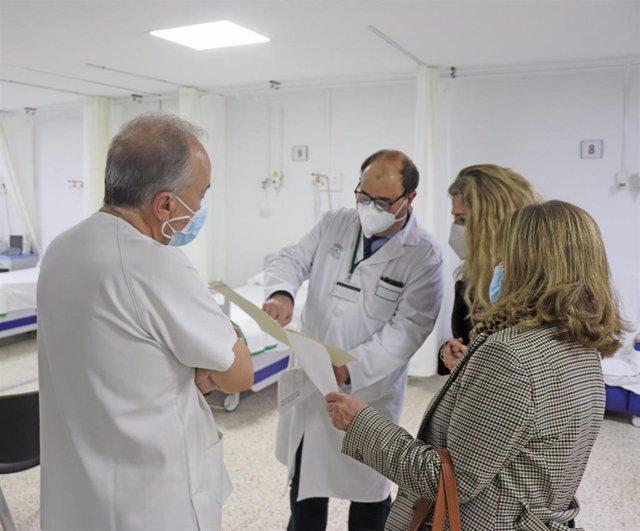 Ana Mestre en el Hospital Puerta del Mar