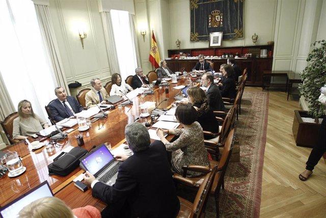 Pleno del CGPJ sobre el aborto. Asiste el Presidente del Tribunal Supremo y del Consejo General del Poder Judicial,Carlos Lesmes