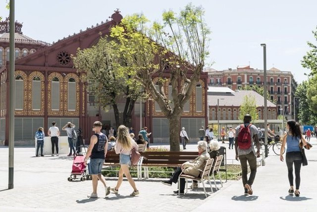 Superilla de Sant Antoni, a l'Eixample de Barcelona