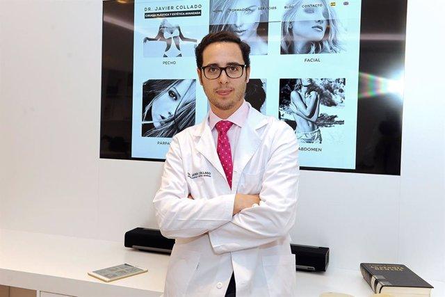 Javier Collado en su clínica de cirugía estética y plástica