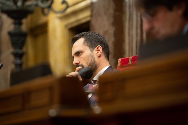 El president del Parlament, Roger Torrent, en una sessió plenària al Parlament, Catalunya (Espanya), 11 de desembre del 2019.