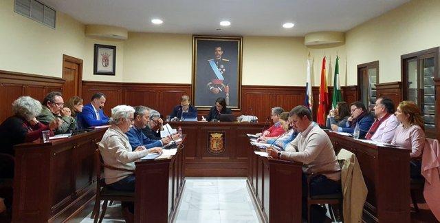 Pleno del Ayuntamiento de Espartinas (Foto de archivo).