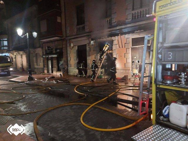 Incendio  en Ribadesella